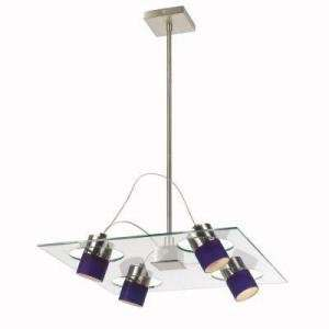Hampton Bay Four Light Pendant Satin Nickel Finish