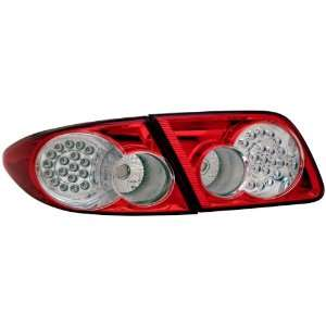 Red/Clear 4Pcs LED Tail Light Assembly   (Sold in Pairs) Automotive