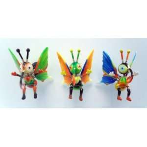 Skipper Butterfly   Refrigerator Bobble Magnet (Set of 3)