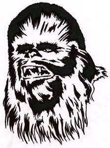 Star Wars CHEWBACCA Logo Car Window Rub On Decal Sticker Clothing
