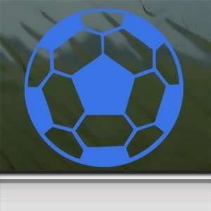 Soccer Ball Blue Decal Car Truck Bumper Window Blue