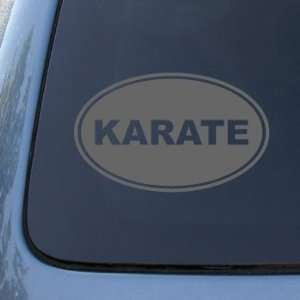 KARATE EURO OVAL   Martial Arts   Vinyl Car Decal Sticker