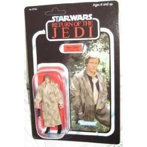 Vintage Style Figure Retro Carded Han Solo in Endor Trench Coat Figure