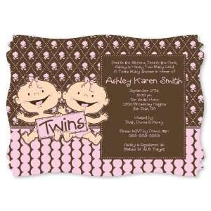 Twin Modern Baby Girls Caucasian   Personalized Baby Shower