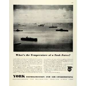 1944 Ad York Refrigeration Air Conditioning WWII War