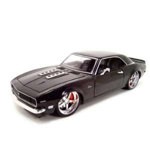 1968 CHEVY CAMARO BLACK WHIPS 118 SCALE DIECAST MODEL