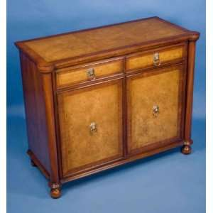 English Antique Style Walnut Wine Cabinet Furniture & Decor