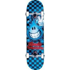 World Industries Wet Willy Checker Complete Skateboard   7.5 x 31.6
