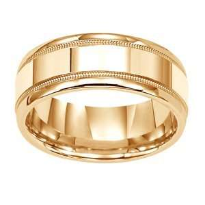 Dreams Mens 14k Two Tone Gold Wedding Band(Forever ArtCarved