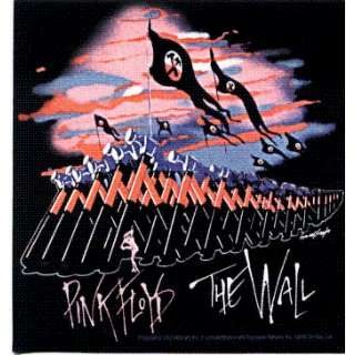 Pink Floyd   The Wall (Marching Hammers on Black)   Sticker / Decal