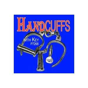 Hand Cuff w/ Key Steel Close Up Magic Trick Magicians
