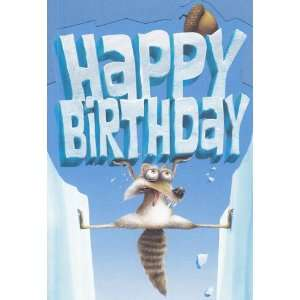 Greeting Card Birthday Ice Age Dawn of the Dinosaurs Happy Birthday