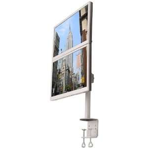 LCD 196A Vertical Dual LCD Monitor Desk Mount Stand Electronics