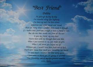 BEST FRIEND PERSONALIZED POEM BIRTHDAY / CHRISTMAS GIFT