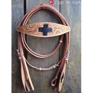419 Western Leather Tack Horse Bridle Headstall Reins