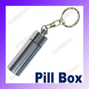 Waterproof Mini Aluminum Pill Box Case Bottle Container Drug Holder