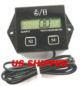 TACH HOUR METER FOR ANY ENGINE WITH SPARK PLUGS