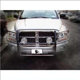 05 10 Dodge Dakota Black Horse Stainless Steel Grill Guard